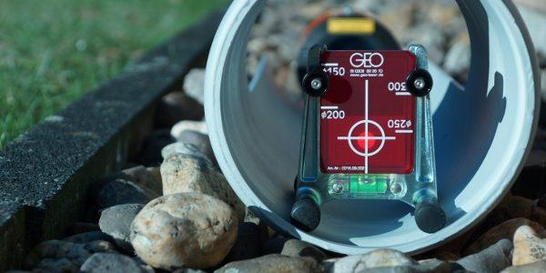 rote Zieltafel-Kanalbaulaser-Kanalbau Laser