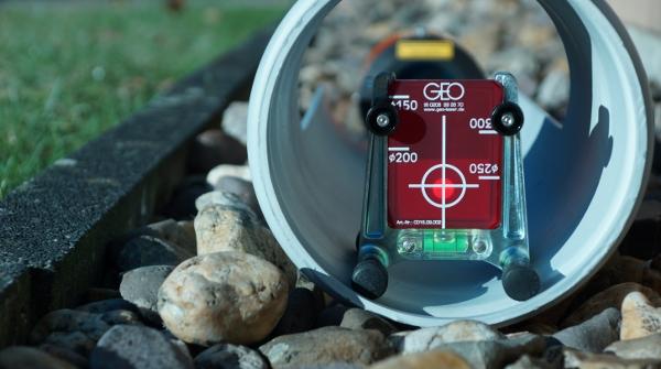 red target pipe laser